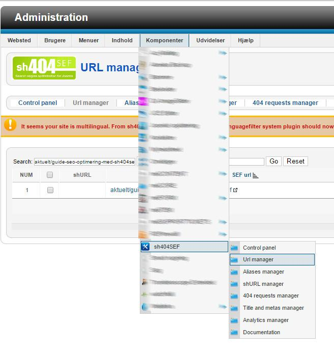 url manager
